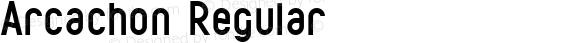 Arcachon Regular Version 1.002;Fontself Maker 2.0.4