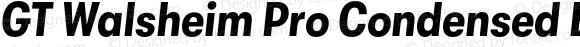 GT Walsheim Pro Condensed Bold Oblique