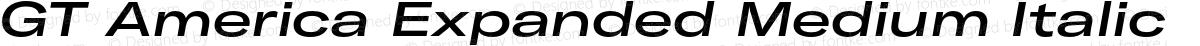 GT America Expanded Medium Italic