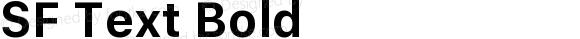SF Text Bold Version 13.0d1e55