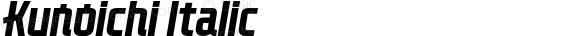 Kunoichi Italic