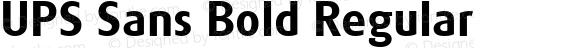 UPS Sans Bold Regular Macromedia Fontographer 4.1.5 12/3/02