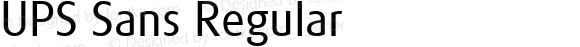 UPS Sans Regular Macromedia Fontographer 4.1.5 12/3/02