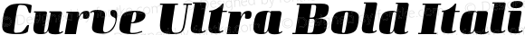 Curve Ultra Bold Italic