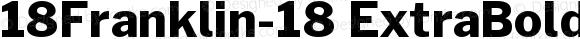 18Franklin-18 ExtraBold