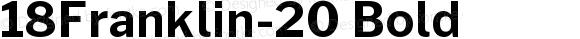 18Franklin-20 Bold