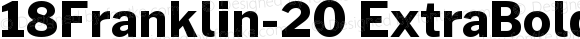 18Franklin-20 ExtraBold