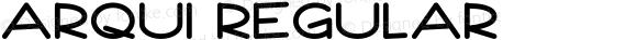 Arqui Regular Version 1.002;Fontself Maker 2.0.4