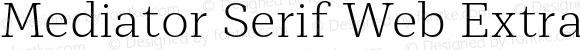 Mediator Serif Web Extra Light