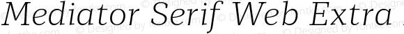 Mediator Serif Web Extra Light Italic