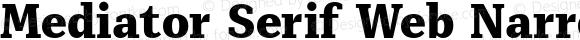Mediator Serif Web Narrow Extra Bold