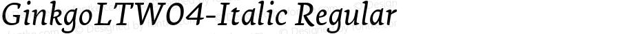 GinkgoLTW04-Italic Regular Version 1.10