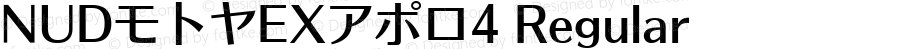 NUDモトヤEXアポロ4 Regular Version 4.00
