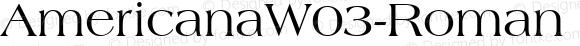 AmericanaW03-Roman Regular Version 1.00