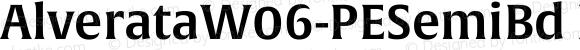 AlverataW06-PESemiBd Regular Version 1.1