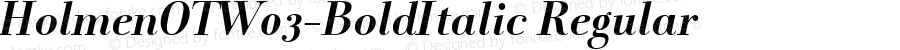 HolmenOTW03-BoldItalic Regular Version 7.502