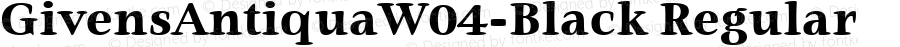 GivensAntiquaW04-Black Regular Version 1.00