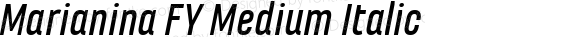 Marianina FY Medium Italic