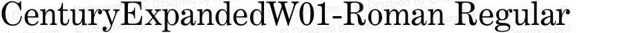 CenturyExpandedW01-Roman Regular Version 1.00