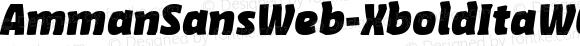 AmmanSansWeb-XboldItaW03-Rg Regular Version 7.504