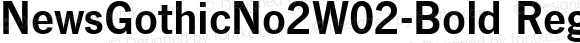 NewsGothicNo2W02-Bold Regular Version 1.01