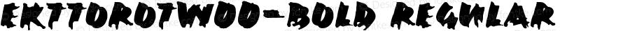 EkttorOTW00-Bold Regular Version 7.504