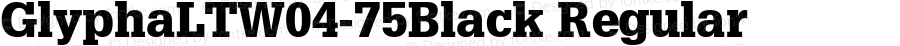 GlyphaLTW04-75Black Regular Version 1.00