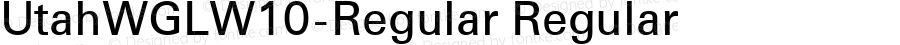 UtahWGLW10-Regular Regular Version 1.20
