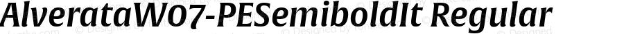 AlverataW07-PESemiboldIt Regular Version 1.100