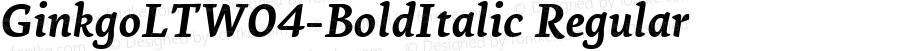 GinkgoLTW04-BoldItalic Regular Version 1.10