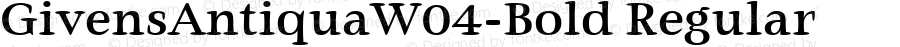 GivensAntiquaW04-Bold Regular Version 1.00
