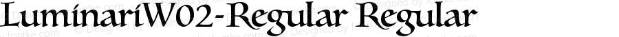LuminariW02-Regular Regular Version 1.1