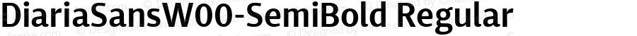 DiariaSansW00-SemiBold Regular Version 1.00