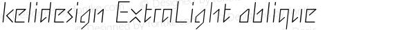 kelidesign ExtraLight oblique