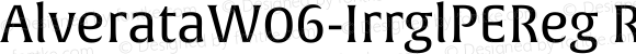 AlverataW06-IrrglPEReg Regular Version 1.1