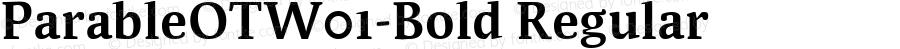 ParableOTW01-Bold Regular Version 7.504