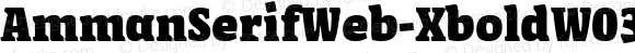 AmmanSerifWeb-XboldW03-Rg Regular Version 7.504