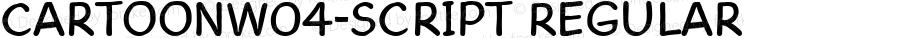 CartoonW04-Script Regular Version 1.00