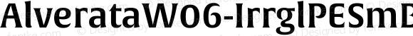 AlverataW06-IrrglPESmBd Regular Version 1.1