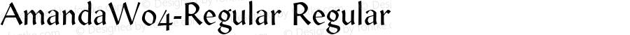AmandaW04-Regular Regular Version 1.00