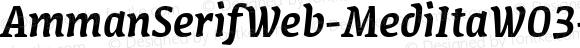 AmmanSerifWeb-MediItaW03-Rg Regular Version 7.504