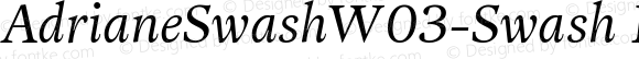 AdrianeSwashW03-Swash Regular Version 1.20