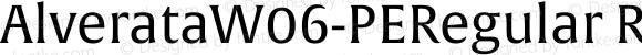 AlverataW06-PERegular Regular Version 1.1