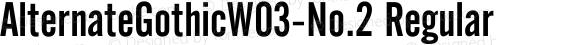 AlternateGothicW03-No.2 Regular Version 1.00