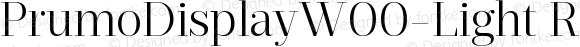PrumoDisplayW00-Light Regular Version 1.10