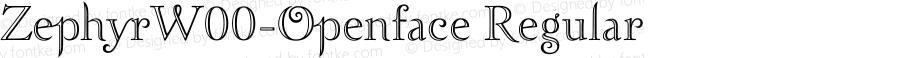 ZephyrW00-Openface Regular Version 1.00