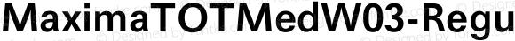 MaximaTOTMedW03-Regular Regular Version 1.00