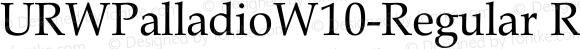 URWPalladioW10-Regular
