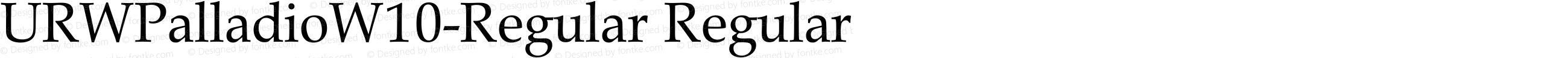 URWPalladioW10-Regular Regular