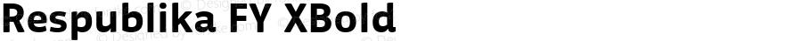 Respublika FY XBold Version 1.002